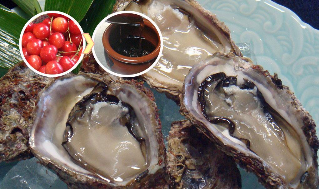 岩牡蠣とタレ